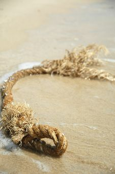 Free Beach And Rope Royalty Free Stock Photo - 1259995