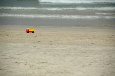 Beach And Toy Truck Royalty Free Stock Photos