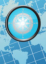 Free Map With Compass Royalty Free Stock Photography - 12501367
