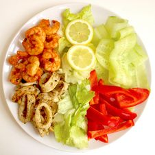 Free Dish, Food, Fried Food, Seafood Stock Photos - 125016733