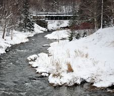 Free River In Winter Stock Images - 12513604