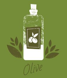 Free Hand Drawn Vector Illustrations Olive Oil Bottle Stock Image - 125351171