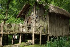Free Tree, Hut, Grass, Outdoor Structure Stock Photography - 125457002