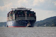 Free Container Ship, Ship, Water Transportation, Panamax Royalty Free Stock Images - 125595939