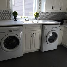 Free Laundry Room, Major Appliance, Washing Machine, Clothes Dryer Stock Photos - 125596403