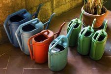 Free Watering Can, Flowerpot, Bottle, Plastic Stock Images - 125596464