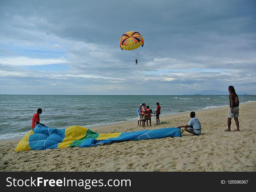 Sea, Windsports, Parasailing, Kite Sports