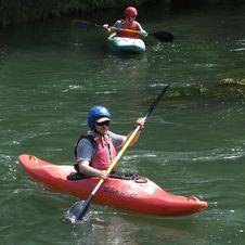 Free Waterway, Kayak, Water, Oar Royalty Free Stock Photos - 125840338