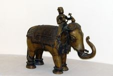 Free Elephants And Mammoths, Indian Elephant, Metal, Sculpture Royalty Free Stock Photo - 125934625