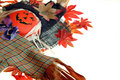 Free Scarecrow And Colorful Leaves Stock Images - 1260384