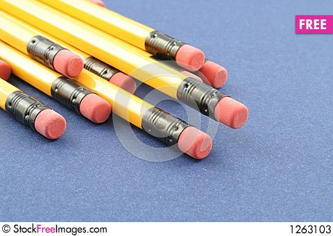 Yellow Pencils Stock Photo