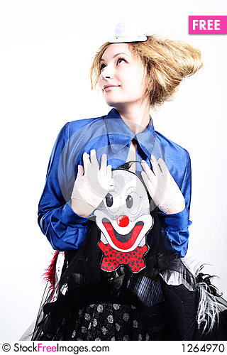 Glamour clown Stock Photo