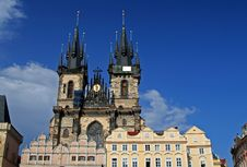 Free Church At Prague, Czech Royalty Free Stock Photos - 1260148