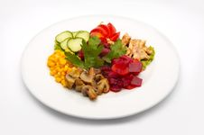 Free Mixed Salad Stock Photography - 1260182