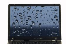Notebook Isolated With Rain Drops 010 Royalty Free Stock Image