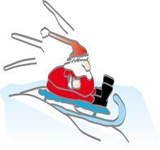 Free Santa On A Sledge Stock Image - 1260771