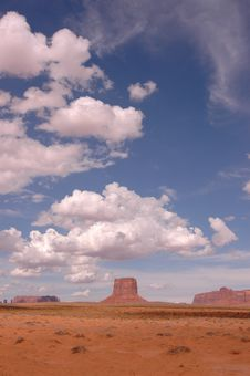 Free A Piece Of Monument Valley. Stock Image - 1261041