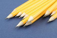 Free Yellow Pencils Royalty Free Stock Photos - 1261058