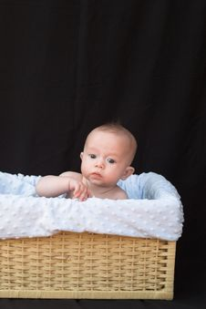 Free Baby In Basket Stock Photos - 1261183