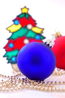 Glass Balls And A Christmas Tree