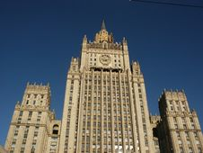 Building Stalin Epoch (Moscow) Stock Image