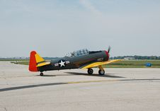 Free T-6 Wartime Trainer Airplane Royalty Free Stock Images - 1262489