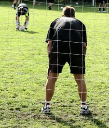Sport, Goal Keeper Stock Image