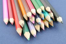 Coloured Pencils Stock Photos