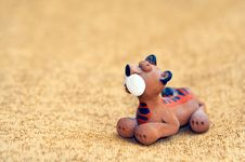 Free Small Ceramic Tiger Royalty Free Stock Images - 1264969