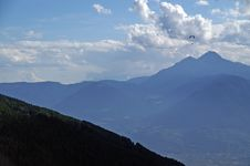 Free Hang Glider In The Alps 1 Stock Image - 1265201