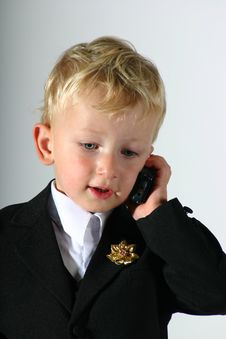 Little Business Man Stock Photography