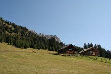 Free Alpine Log Cabin,Dolomites,Italy Stock Photos - 1265953