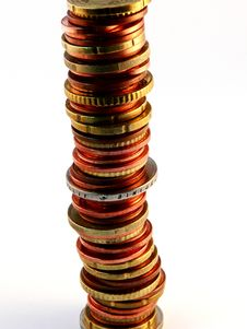 Free Stack Of Coins Royalty Free Stock Image - 1266006