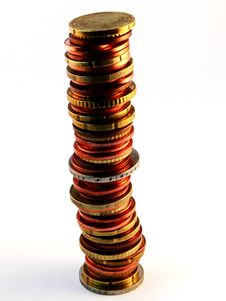 Free Stack Of Coins Royalty Free Stock Photography - 1266007