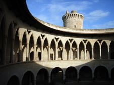 Free Shadows In The Castle Cloister Royalty Free Stock Photos - 1266868