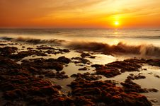 Free Beach In The Evening Royalty Free Stock Images - 1266989