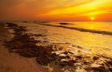 Free Beach In The Evening Stock Photos - 1266993