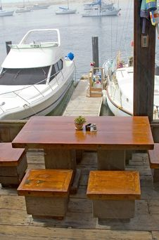 Dining At The Dock Stock Images