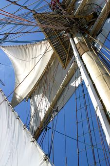 Mast And Staysails Royalty Free Stock Photography