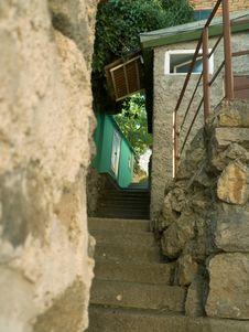 Alleyway In Village Royalty Free Stock Image