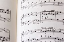 Free Sheet Of Music P01 Royalty Free Stock Images - 1268669