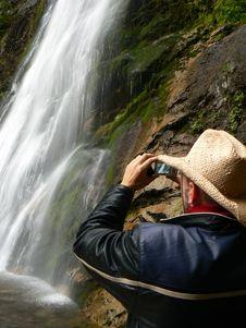 Free Waterfall Photographer Royalty Free Stock Image - 1268916