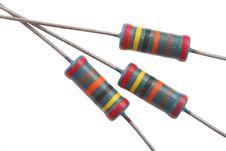 Free Resistors Royalty Free Stock Image - 1269136