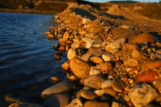 Free Stones By The Lake Bank Stock Photo - 1269400