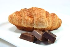 Free Croissant With Chocolate Stock Images - 12605854