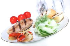 Free Grilled Chicken Breast Stock Photography - 12606492