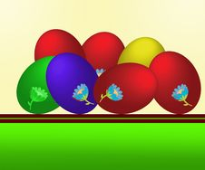 Free Easter Eggs Royalty Free Stock Image - 12610866