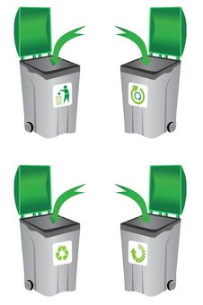 Free Recycle Bin Stock Photography - 12617182