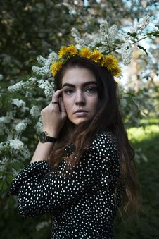 Free Photography Of Wearing Flower Crown Royalty Free Stock Photography - 126175867