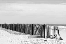Free Grayscale Photo Of Fences Near Beach Stock Photos - 126175883